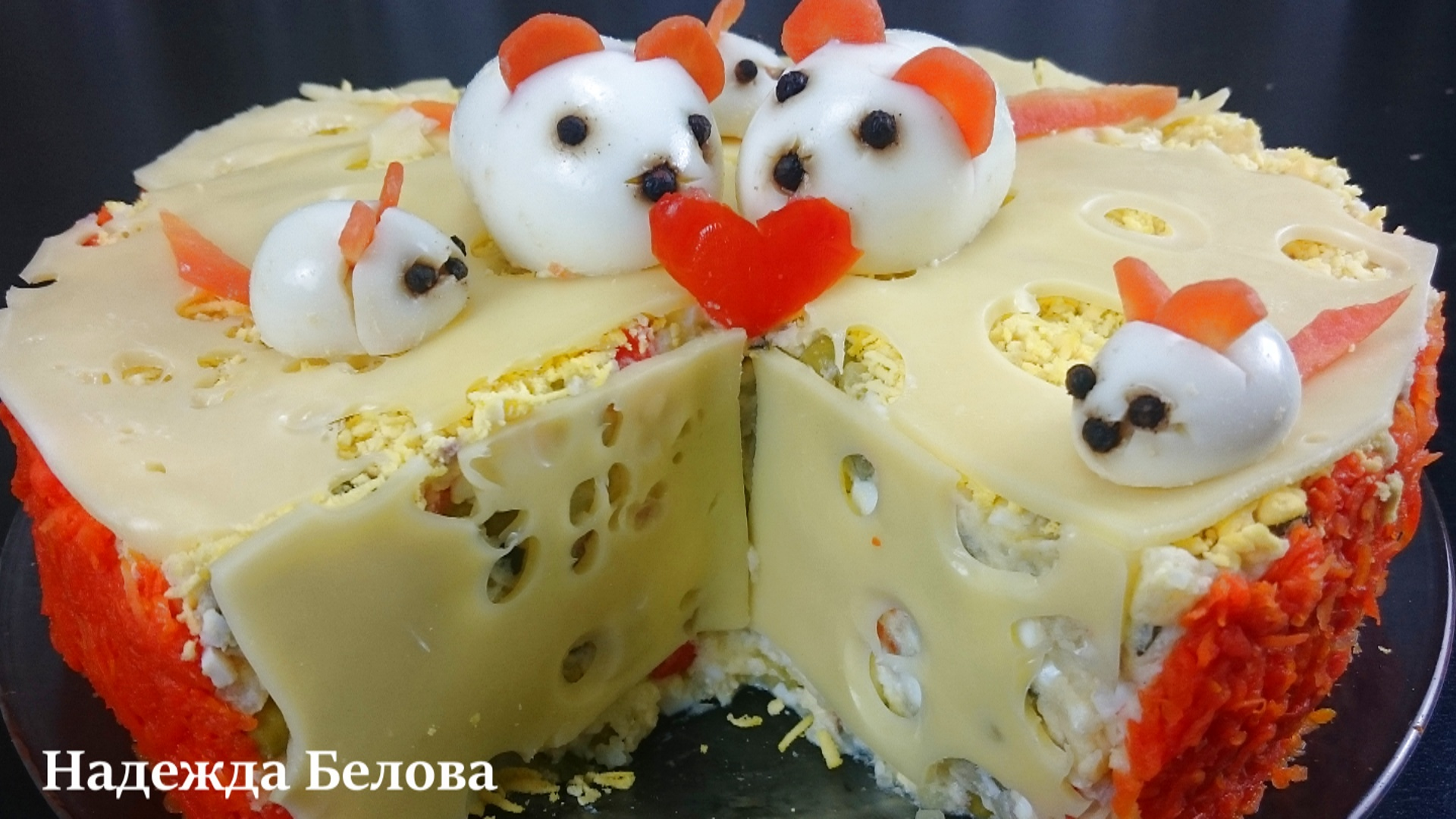 салат мышка в сыре рецепт с фото про